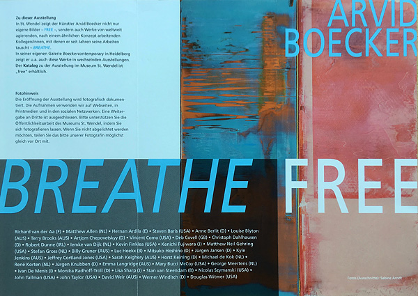 Breathe Free 2019, Museum St.Wendel / Stiftung Dr. Walter Bruch